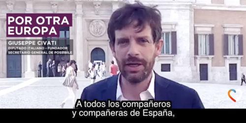 Giuseppe_Civati_Togheter_Podemos
